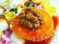 Рецепта Плодова салата със заквасена сметана